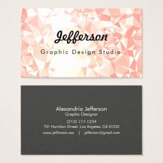 LoveGeo Abstract Geometric Design - Amaranth GD Business Card
