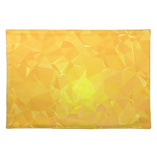 LoveGeo Abstract Geometric Design - Amber Apricot Placemat