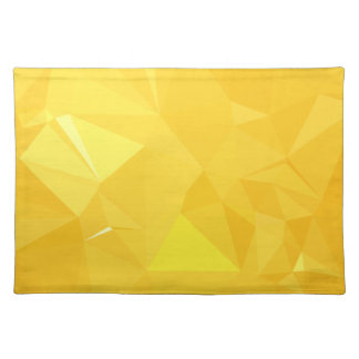 LoveGeo Abstract Geometric Design - Amber Flame Placemat