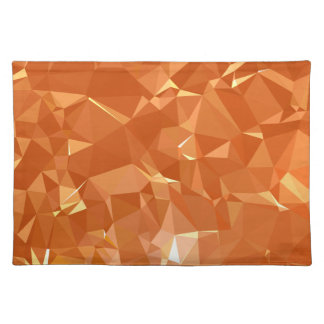 LoveGeo Abstract Geometric Design - Bright Amber Placemat