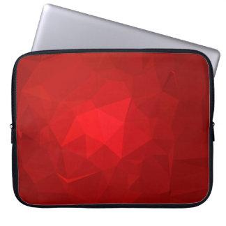 LoveGeo Abstract Geometric Design - Burgundy Just Laptop Sleeve