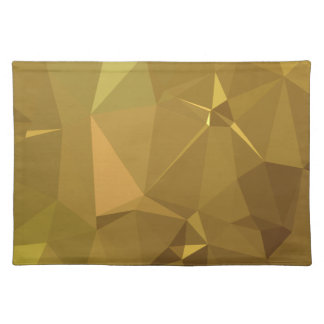 LoveGeo Abstract Geometric Design - Burnish Amber Placemat