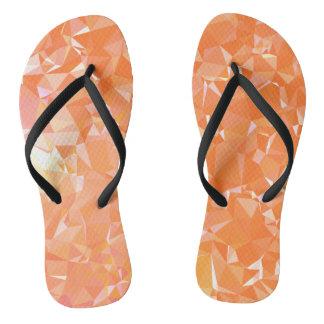 LoveGeo Abstract Geometric Design - Coral Empire Flip Flops