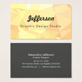 LoveGeo Abstract Geometric Design - Crepe Dessert Business Card