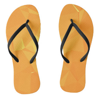 LoveGeo Abstract Geometric Design - Gold Velvet Flip Flops