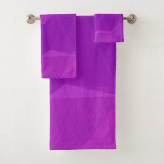 LoveGeo Abstract Geometric Design - Hera Violet Bath Towel Set