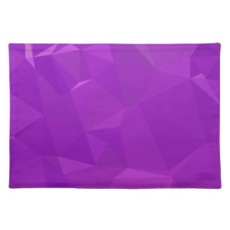 LoveGeo Abstract Geometric Design - Hera Violet Placemat