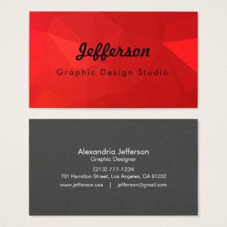 LoveGeo Abstract Geometric Design - Indonesian Chi Business Card
