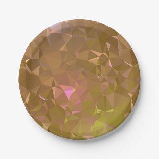 LoveGeo Abstract Geometric Design - Mocha Chill Paper Plate
