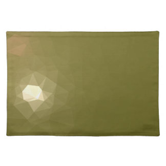 LoveGeo Abstract Geometric Design - Muddy Moss Placemat