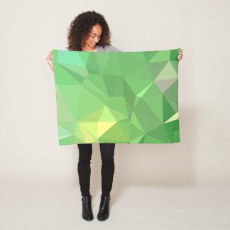 LoveGeo Abstract Geometric Design - Pickle Lemon Fleece Blanket