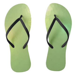 LoveGeo Abstract Geometric Design - Sail Celery Flip Flops