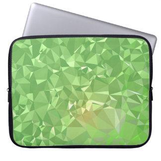 LoveGeo Abstract Geometric Design - Shamrock Gold Laptop Sleeve