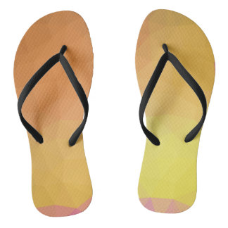 LoveGeo Abstract Geometric Design - Sunny Fringe Flip Flops