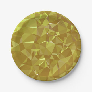 LoveGeo Abstract Geometric Design - Sweet Coffee Paper Plate