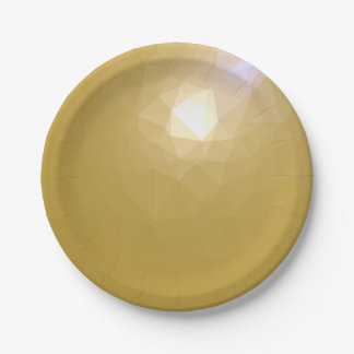 LoveGeo Abstract Geometric Design - Tan Comet Paper Plate
