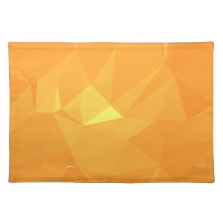 LoveGeo Abstract Geometric Design - Tangy Madarin Placemat