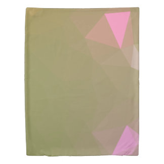 LoveGeo Abstract Geometric Design - Turtle Olive Duvet Cover