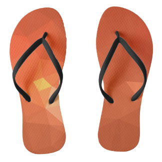 LoveGeo Abstract Geometric Design - Warm Sequoia Flip Flops