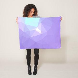 LoveGeo Abstract Geometric Design - Wisteria Iris Fleece Blanket