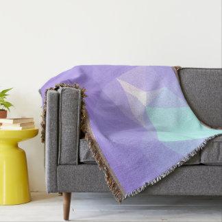 LoveGeo Abstract Geometric Design - Wisteria Iris Throw Blanket