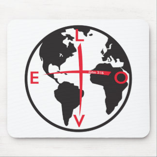 LoveGlobe316 - white background Mouse Pad