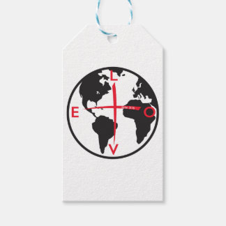 LoveGlobe316 - white background Pack Of Gift Tags