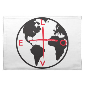 LoveGlobe316 - white background Placemat