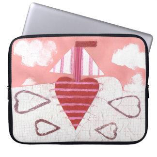 Loveheart Boat 15 Inch Laptop Sleeve