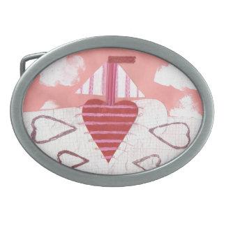 Loveheart Boat Buckle Oval Belt Buckles