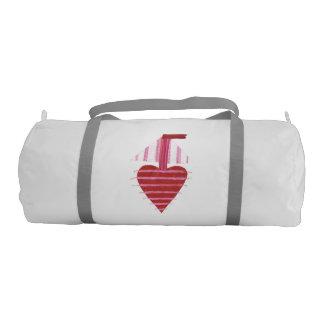 Loveheart Boat Duffle Gym Bag