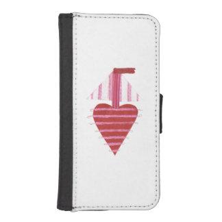 Loveheart Boat I-Phone 5/5s Wallet Case
