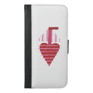 Loveheart Boat I-Phone 6/6s Wallet Case