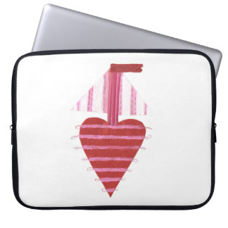 Loveheart Boat No Background 15 Inch Laptop Sleeve
