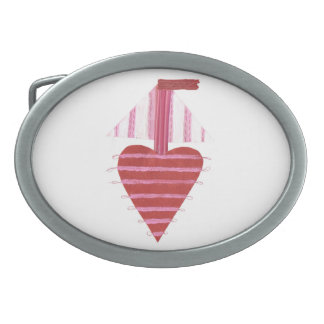 Loveheart Boat No Background Buckle Belt Buckle