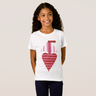Loveheart Boat No Background Girl T-Shirt