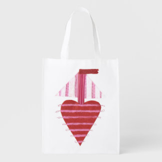 Loveheart Boat No Background Reusable Bag