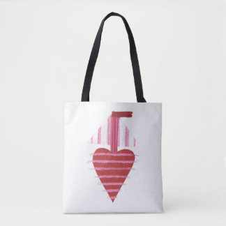 Loveheart Boat No Background Tote Bag