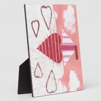 Loveheart Boat on a Easel Plaque