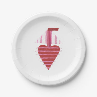 Loveheart Boat Paper Plate