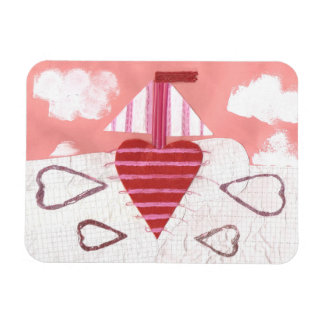 Loveheart Boat Photo Magnet