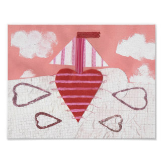 Loveheart Boat Poster
