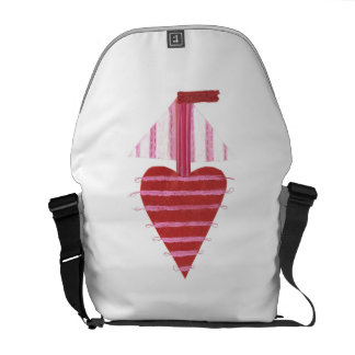 Loveheart Boat Rusksack Courier Bag