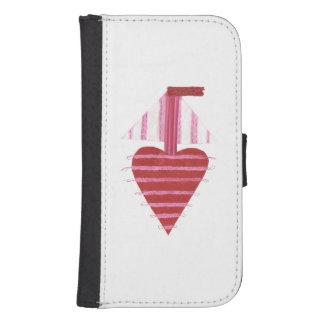 Loveheart Boat Samsung Galaxy S4 Wallet Case