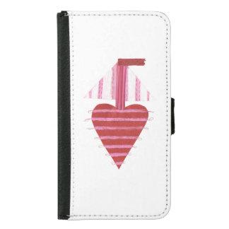Loveheart Boat Samsung Galaxy S5 Wallet Case