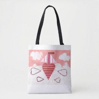 Loveheart Boat Tote Bag