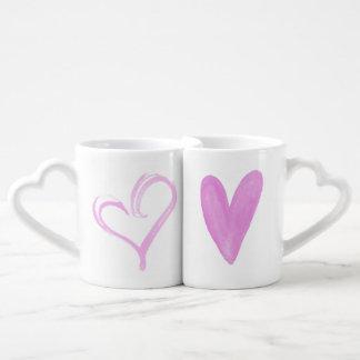Loveheart Doodles Nesting Mugs Lovers Mug Sets