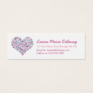 Loveheart Skinny Calling Card