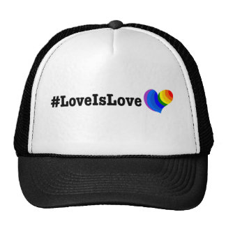 #LoveIsLove hashtag tshirt Trucker Hat