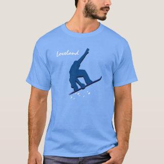 Loveland Blue Snowboarder T-Shirt